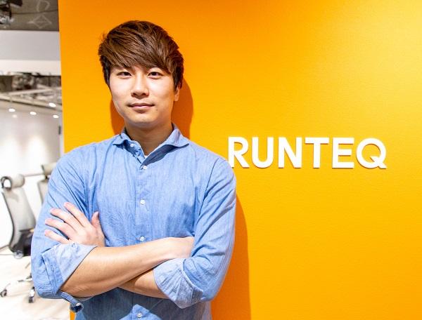 RUNTEQで佇む岩崎さん